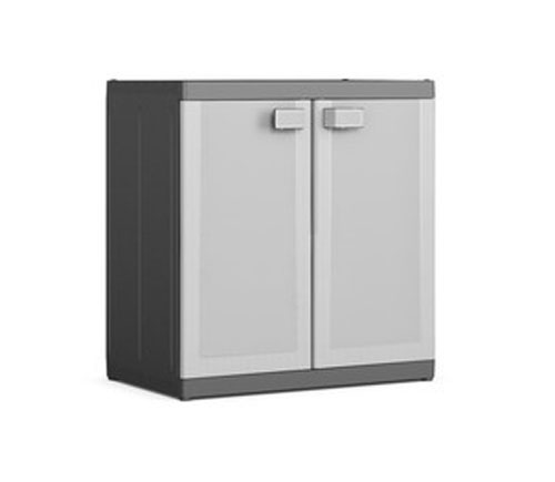 Simpli Home Warm Shaker Solid Wood Low Storage Cabinet